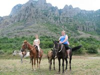 horse riding in the Crimea